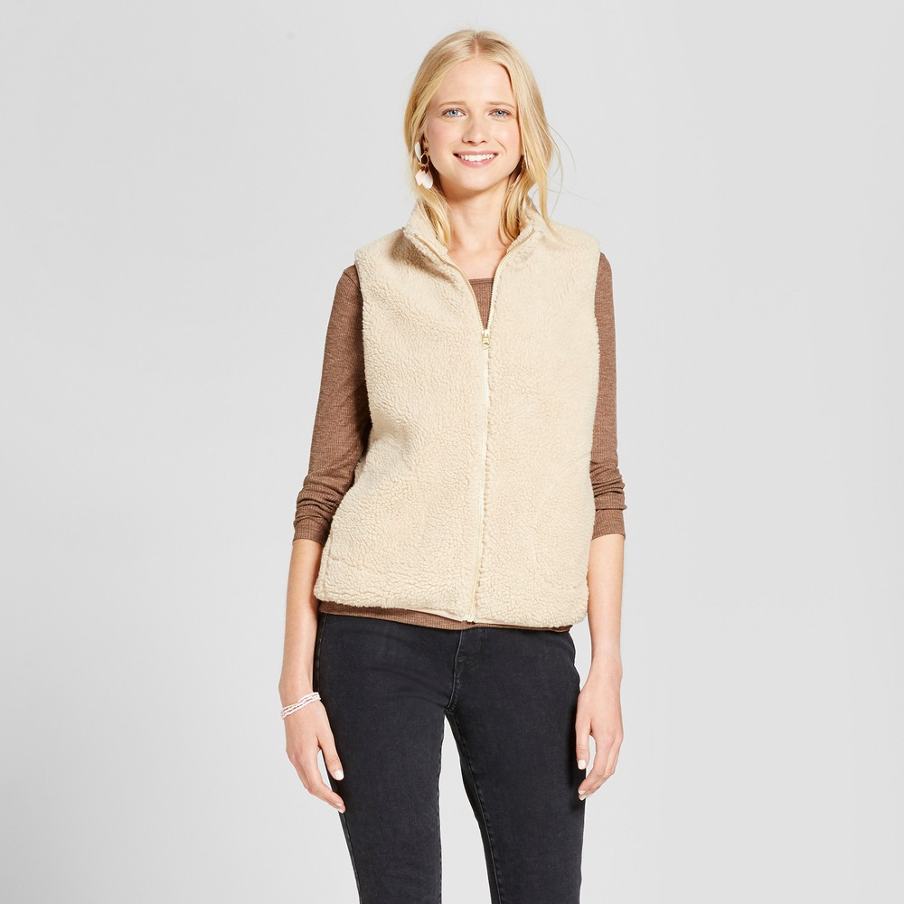 Womens Sherpa Vest - Mossimo Supply Co. Tan M