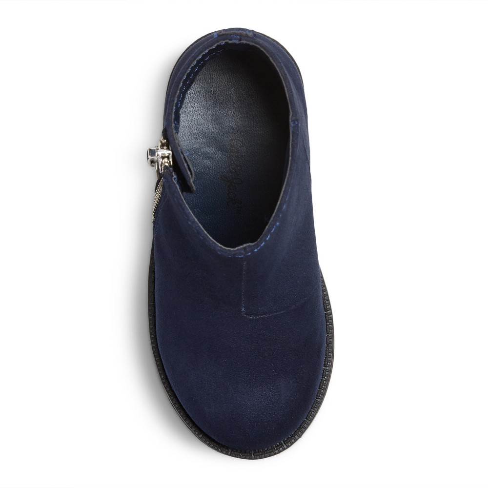 Toddler Girls Jolina Ankle Fashion Boots 9 - Cat & Jack - Navy (Blue)