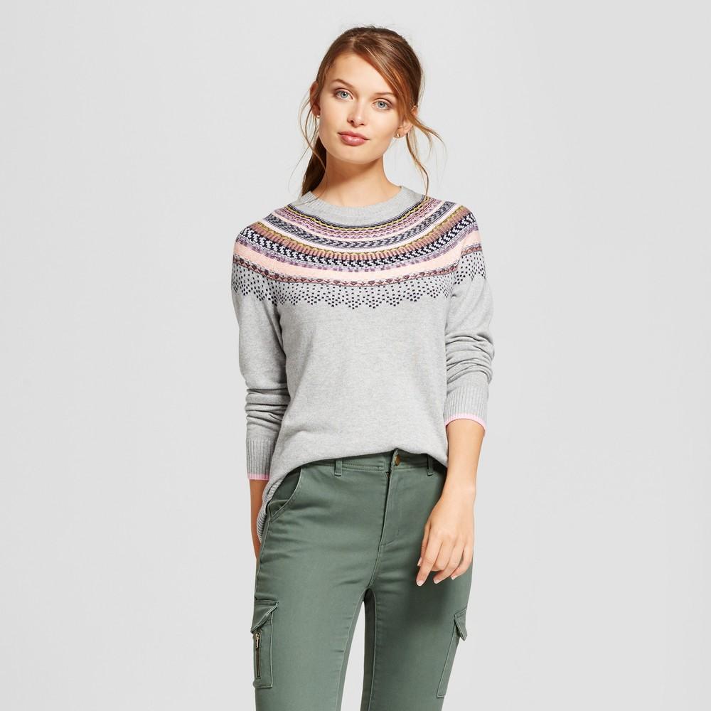 Womens Fairisle Any Day Pullover - A New Day Gray S