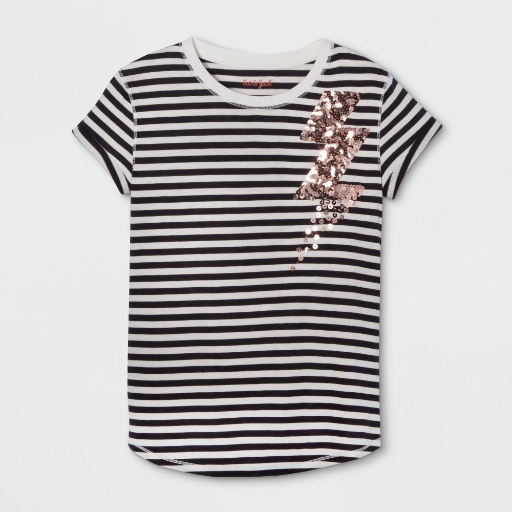 Girls Short Sleeve Lightning Bolt Graphic T-Shirt - Cat & Jack Black XS