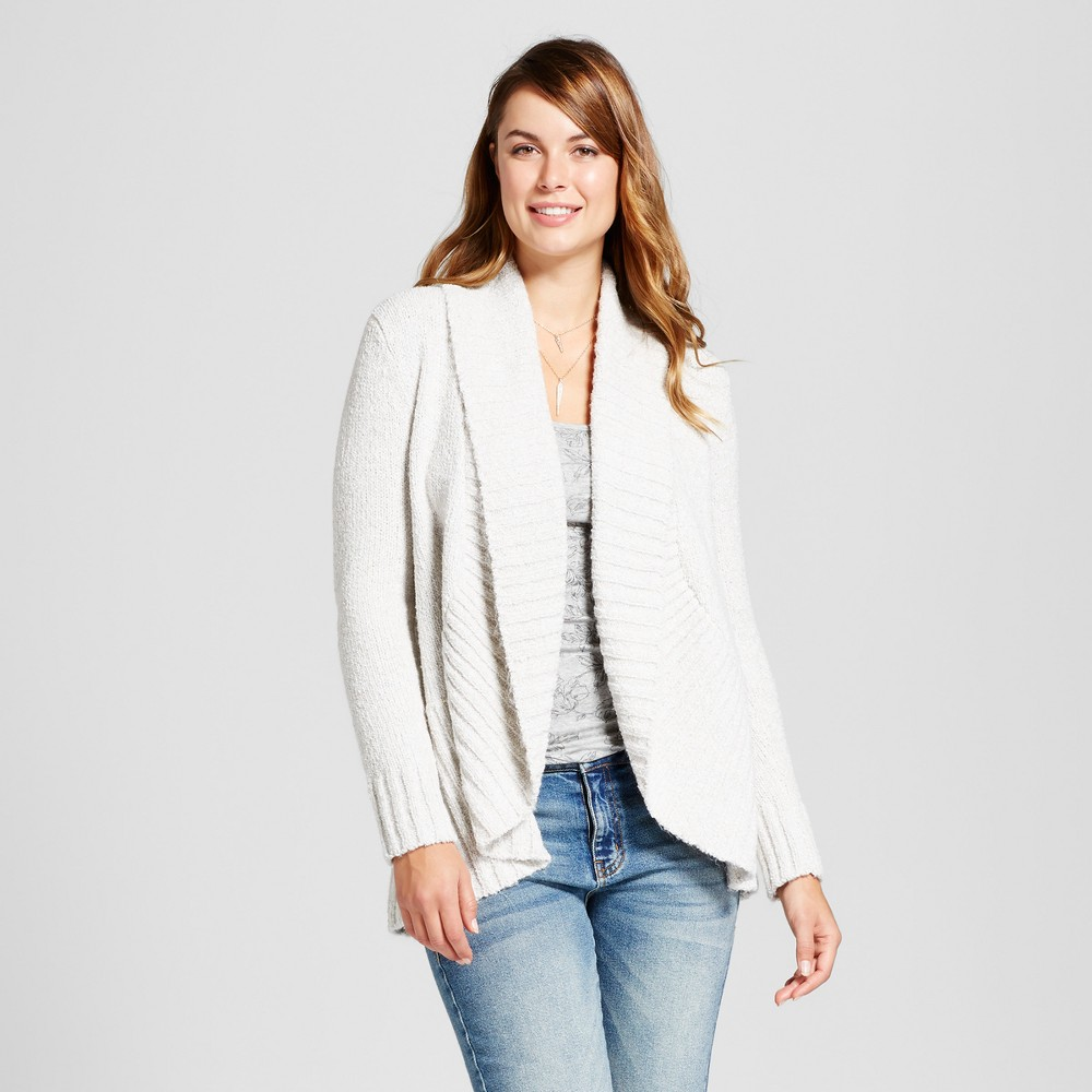 Womens Chenille Cocoon - A New Day Oatmeal XS