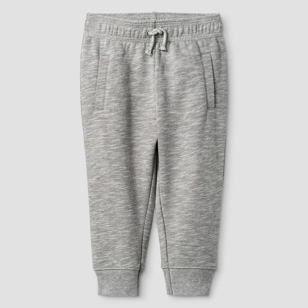 Baby Boys Solid Jogger Pants Cat & Jack - Classic Gray 6-9 M