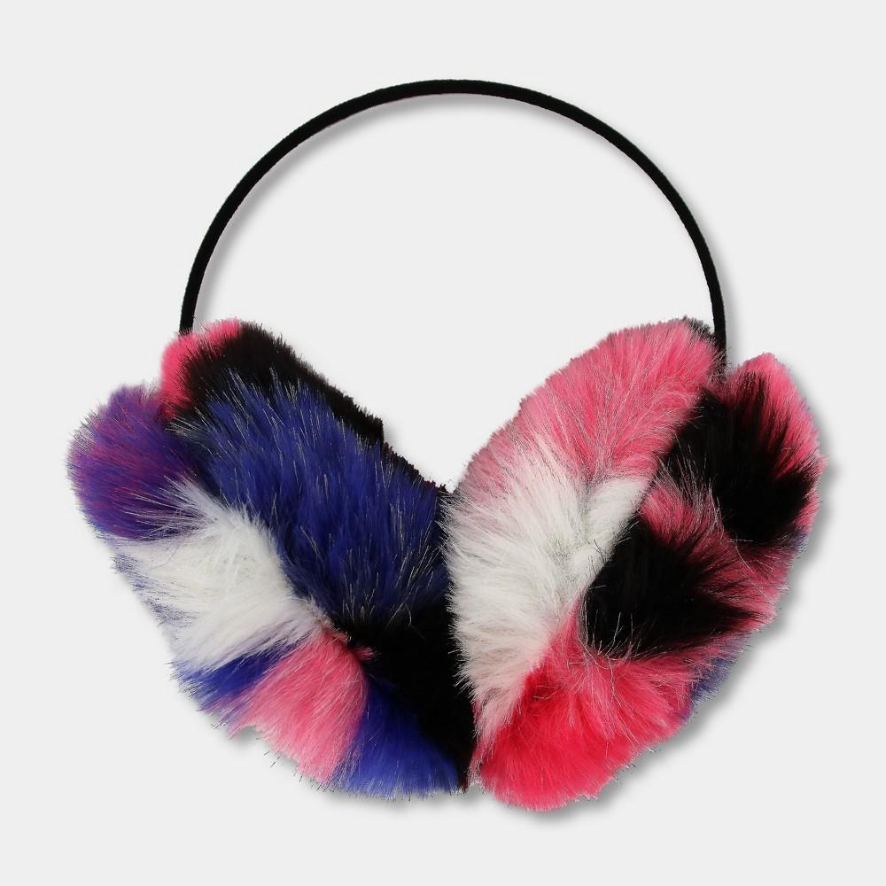 Girls Oversized Puf Earmuffs - Cat & Jack Pink, Multi-Colored