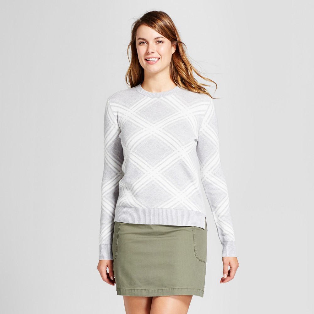Womens Argyle Any Day Pullover - A New Day Light Gray M