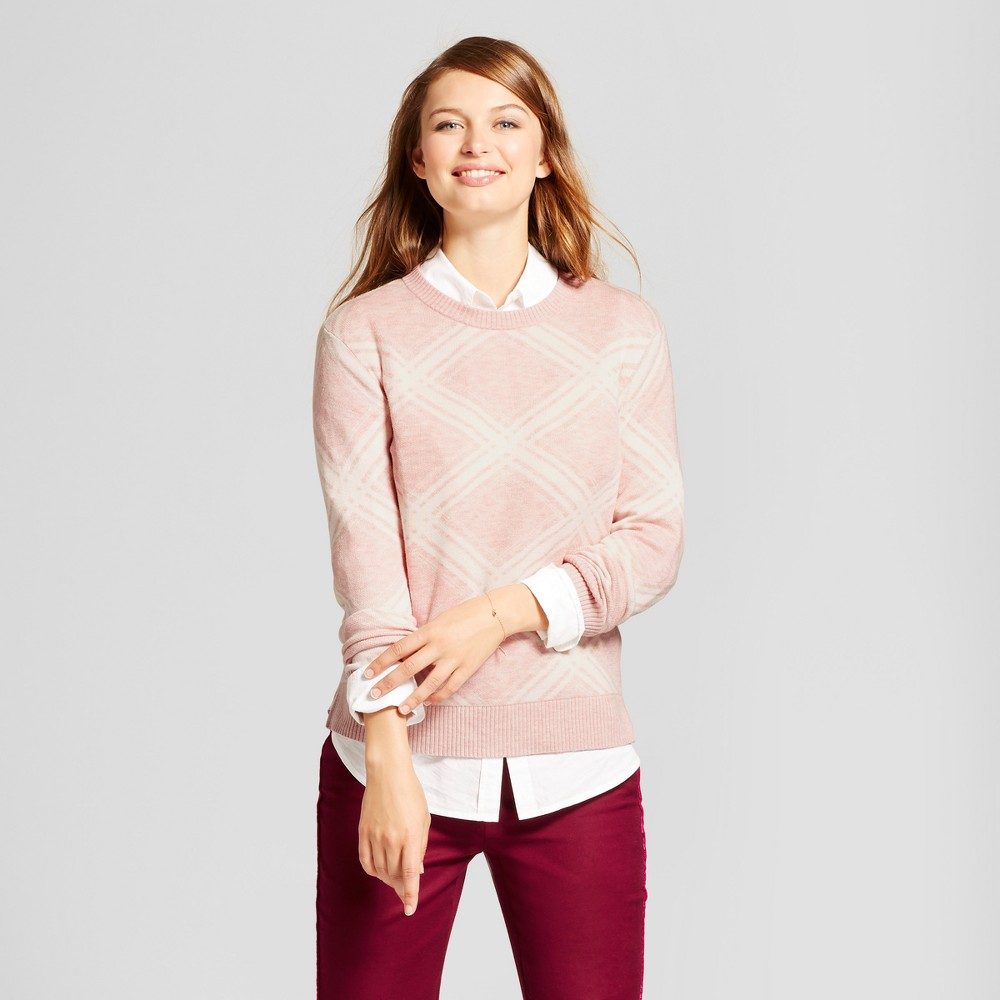 Womens Argyle Any Day Pullover - A New Day Pink M