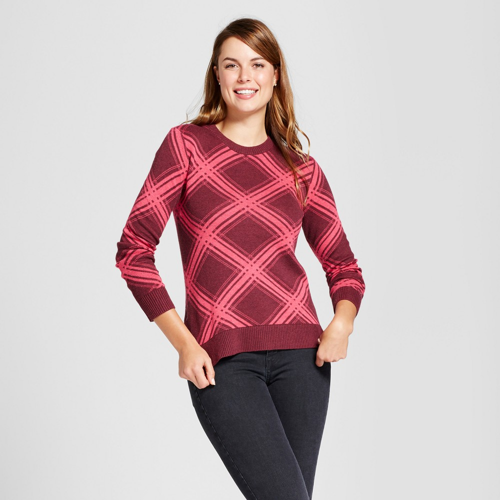 Womens Argyle Any Day Pullover - A New Day Red L