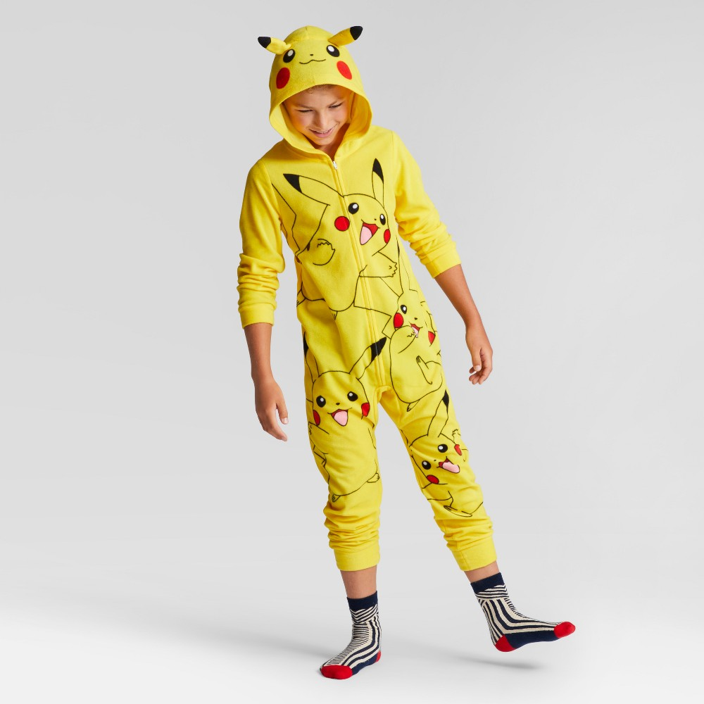 Pokemon Boys Footed Sleeper - Yellow L