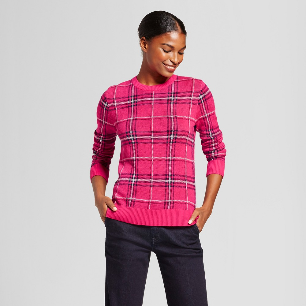 Womens Plaid Any Day Pullover - A New Day Pink M