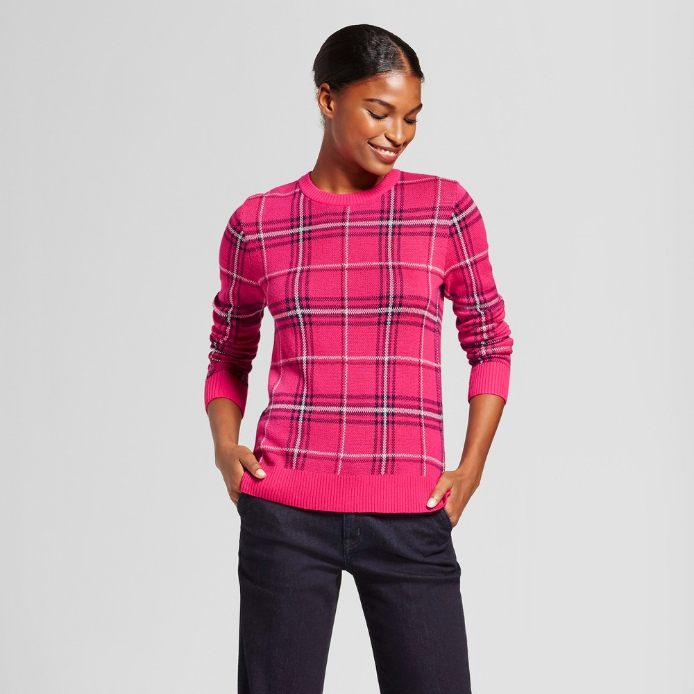 Womens Plaid Any Day Pullover - A New Day Pink S