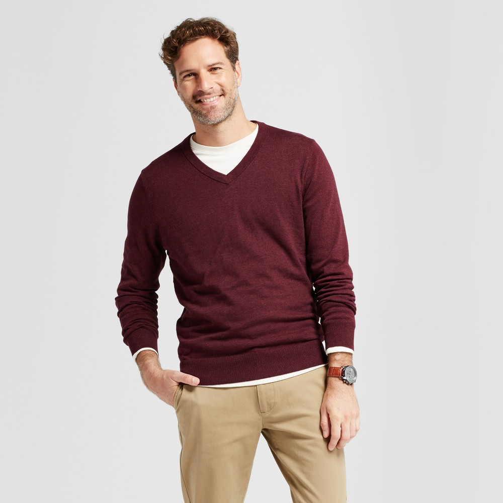 Mens V-Neck Sweater - Goodfellow & Co Burgundy (Red) XL
