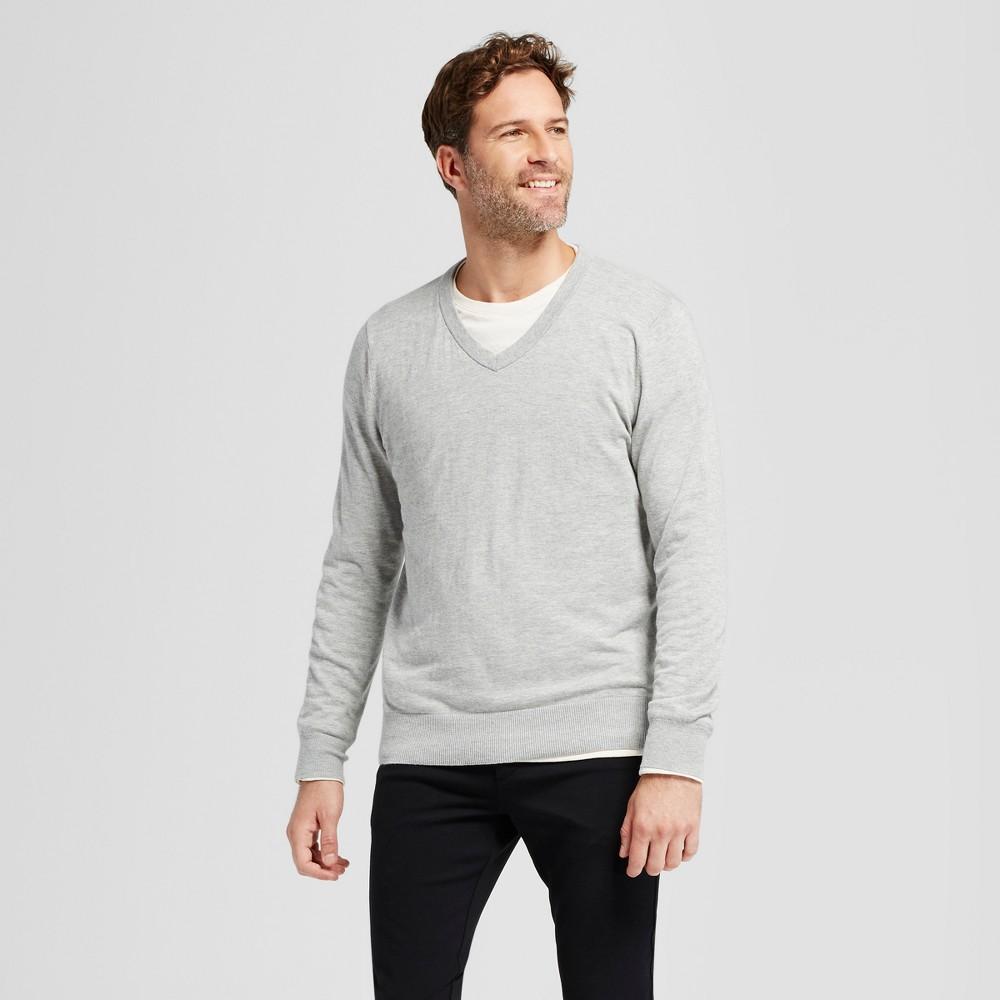 Mens V-Neck Sweater - Goodfellow & Co Gray XL, Heather Gray