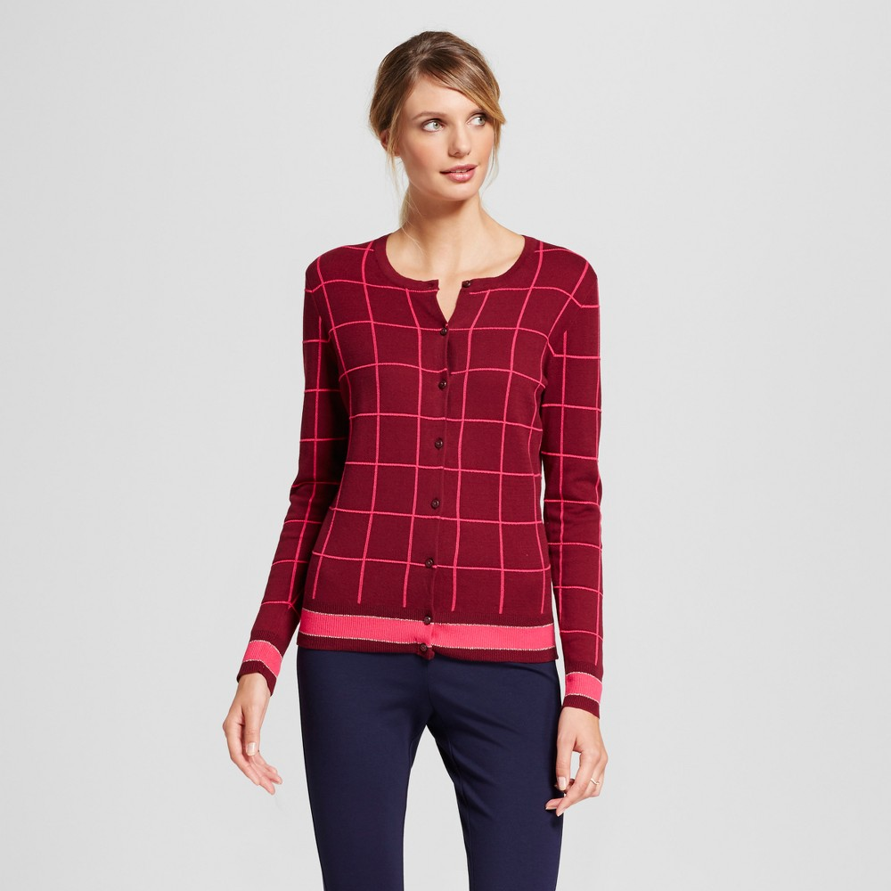 Womens Printed Any Day Cardigan - A New Day Burgundy (Red) XL