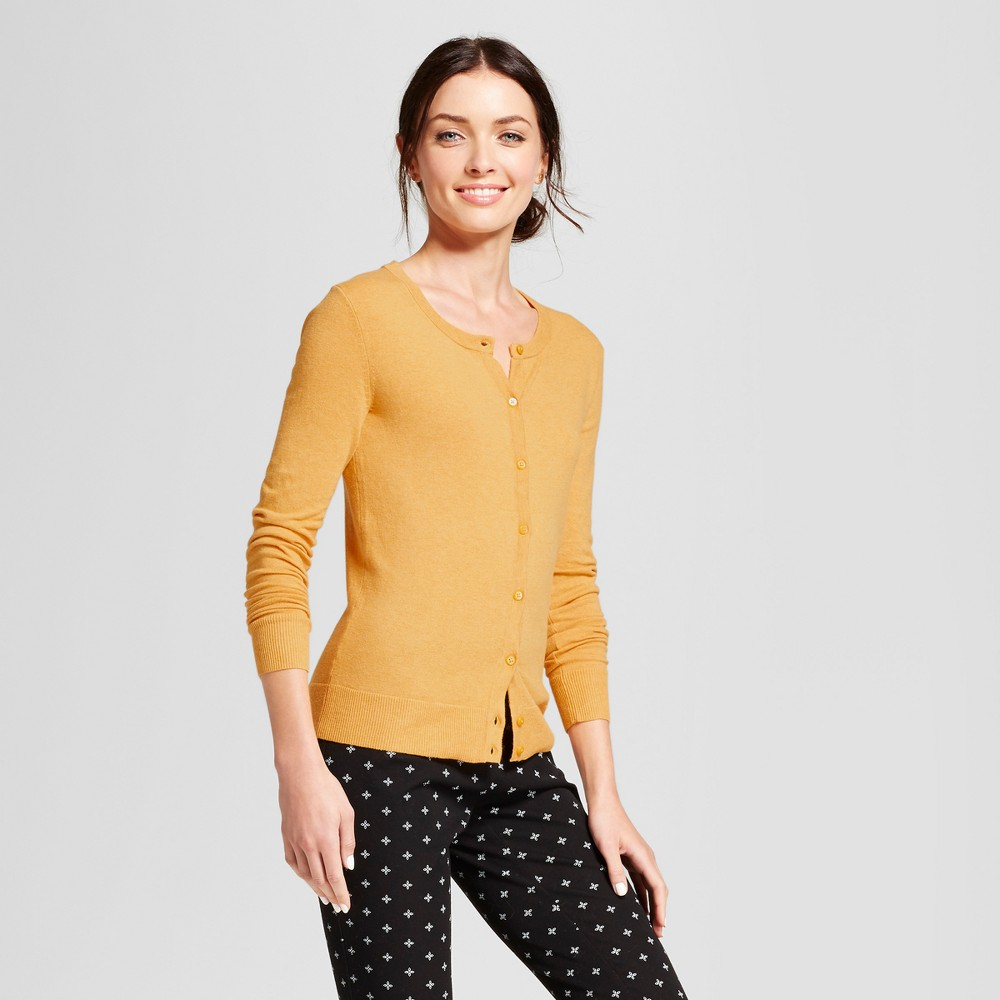 Womens Any Day Cardigan - A New Day Gold XS