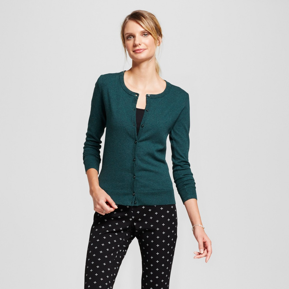 Womens Any Day Cardigan - A New Day Dark Green M