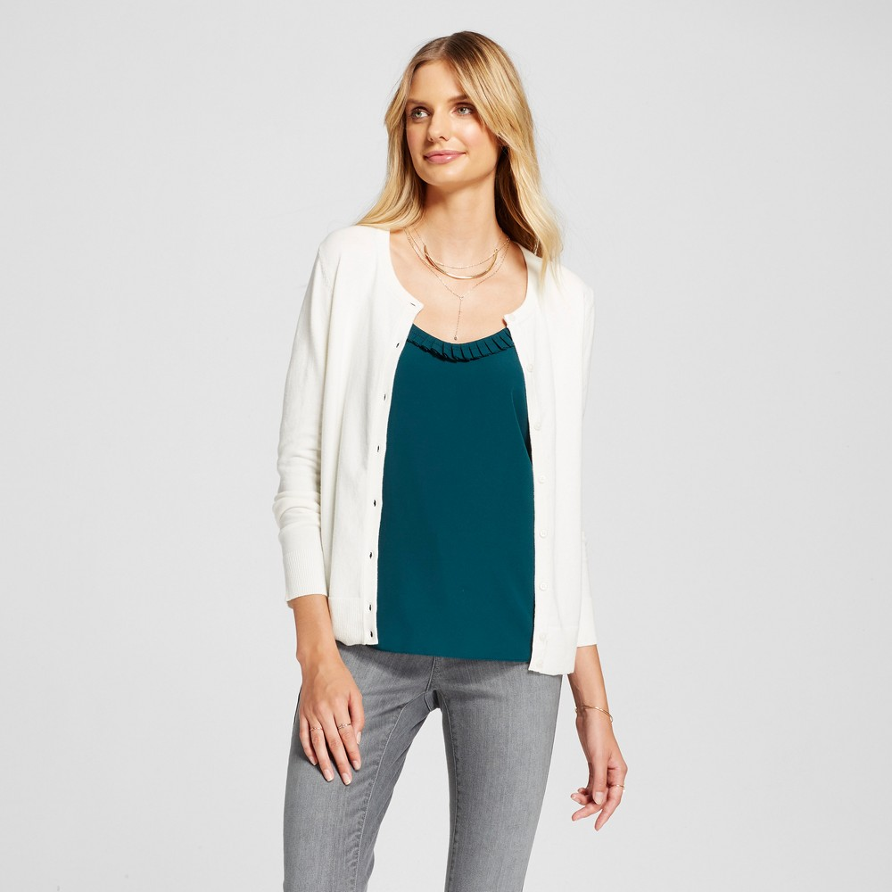 Womens Any Day Cardigan - A New Day Cream (Ivory) XS