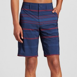 Men's Hybrid Swim Shorts Navy and Red Stripe - Mossimo Supply Co.™