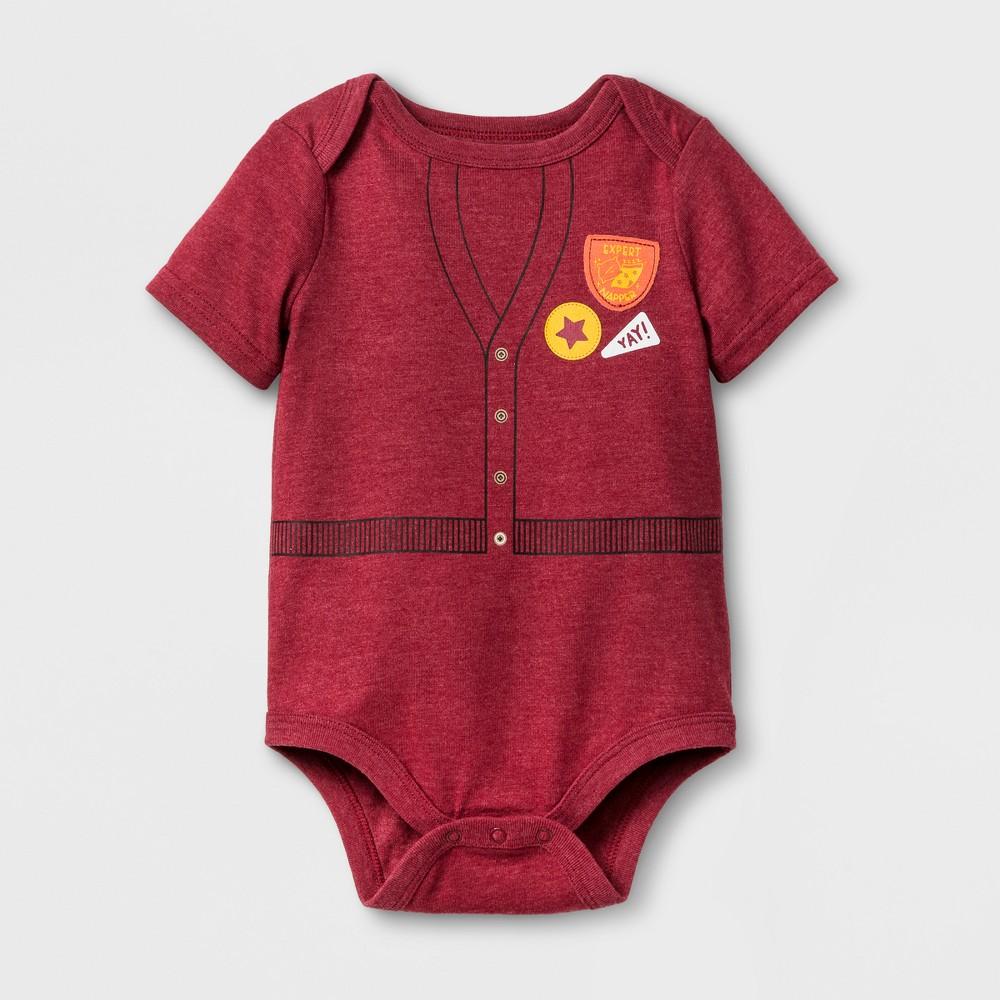 Baby Boys Short Sleeve Expert Napper Bodysuit - Cat & Jack Red 3-6 M