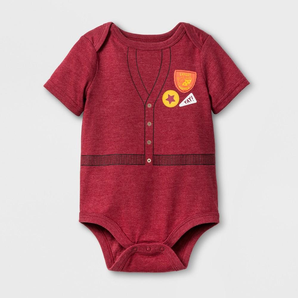 Baby Boys Short Sleeve Expert Napper Bodysuit - Cat & Jack Red 6-9 M