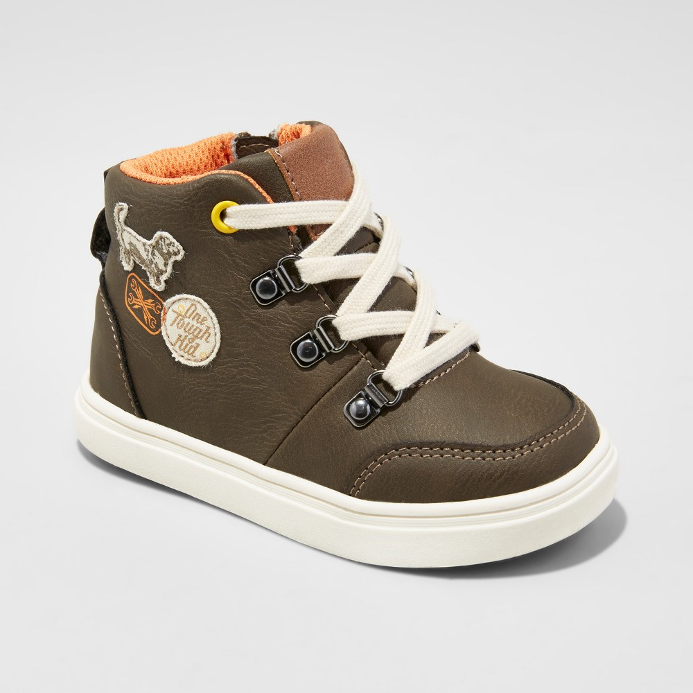 Toddler Boys Collin Workman Patch Casula High Top Sneakers Brown 6 - Genuine Kids