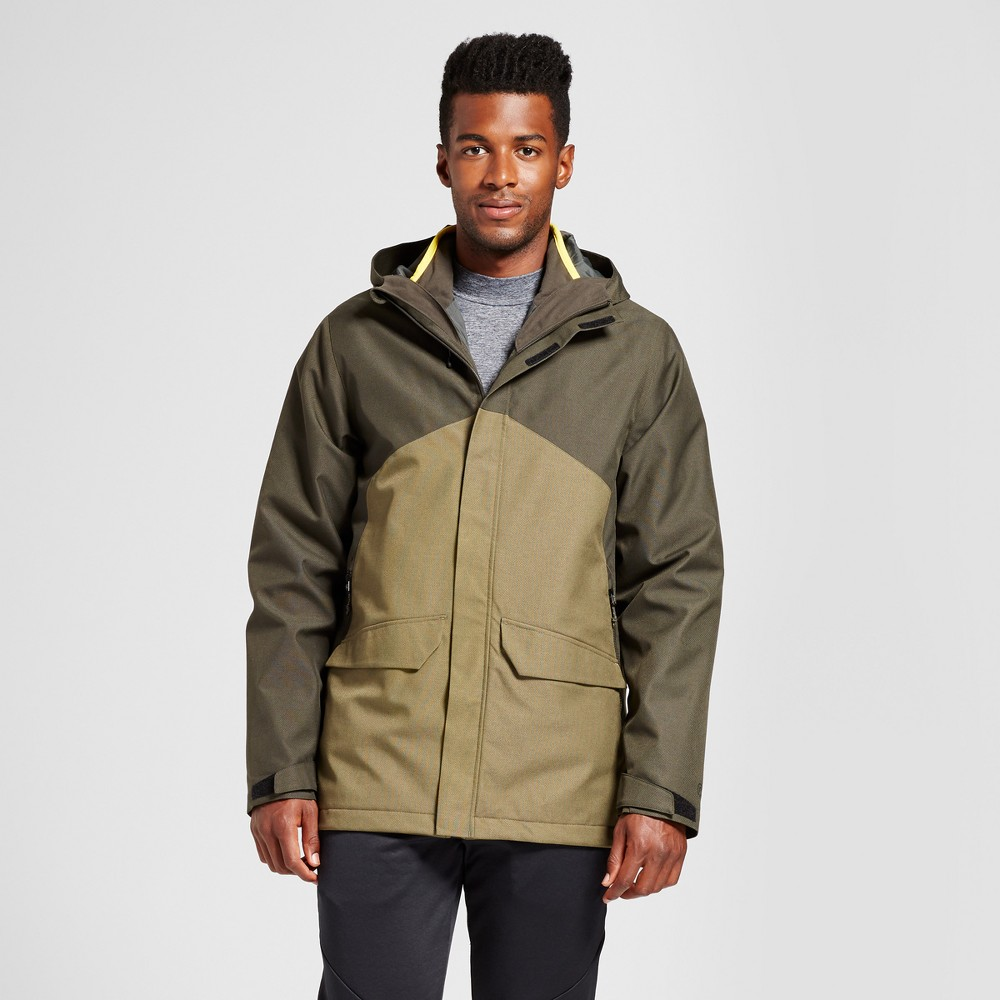 Mens Big & Tall 3-in-1 Jacket - C9 Champion Viridian Olive XL-Tall, Size: Large, Virdiam Olive