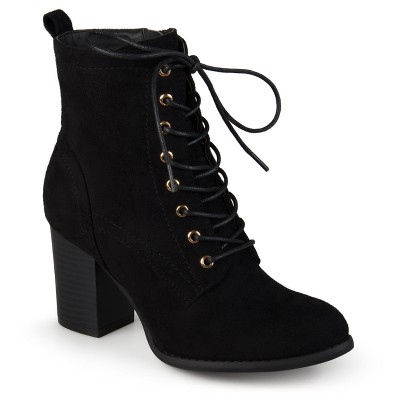 Lace Up Booties With Heel m4mSDZKu