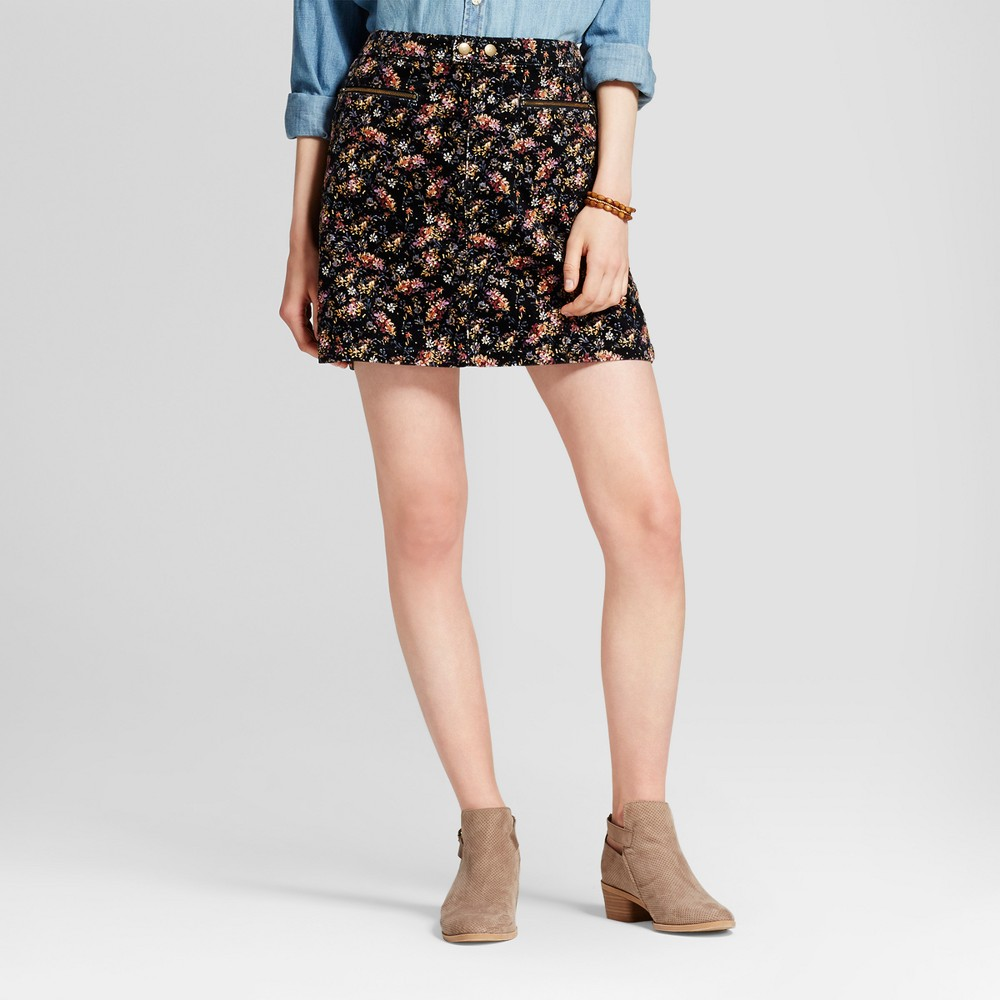Womens Corduroy Skirt Floral Print 16 - Mossimo Supply Co.