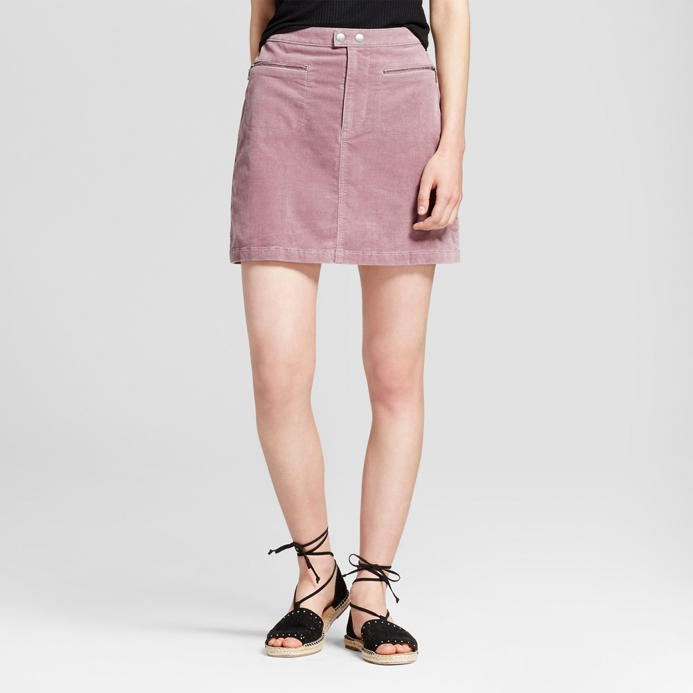 Women's Corduroy Skirt Mauve (Pink) 0 - Mossimo Supply Co.