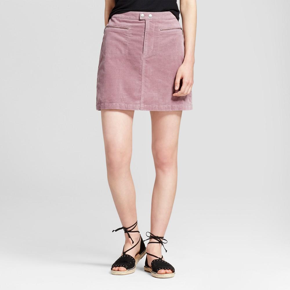 Womens Corduroy Skirt Mauve (Pink) 10 - Mossimo Supply Co.