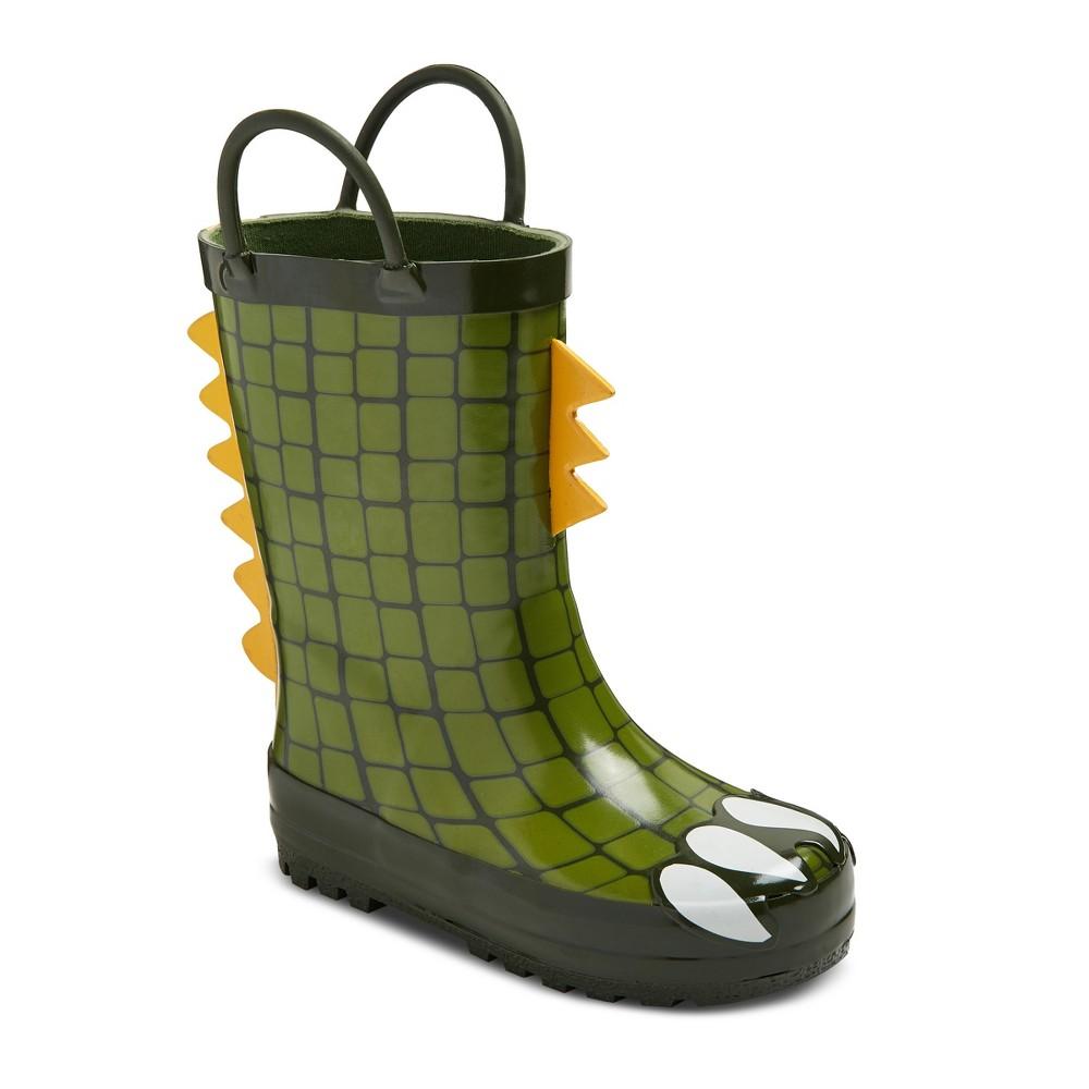 Toddler Boys Mike Dragon Feet Rain Boots Cat & Jack - Green M, Size: M (7-8)
