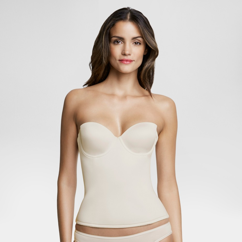 Dominique Womens Seamless Padded Longline Bridal Bra #8500 - Bone (Ivory) 34DD