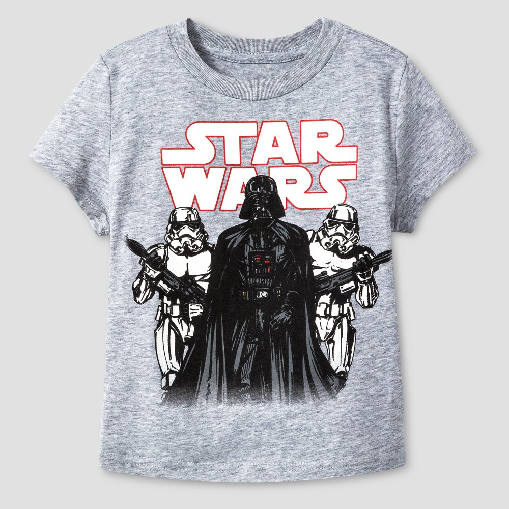 Toddler Boys Star Wars Stormtrooper Crew T-Shirt - Heather Gray 4T