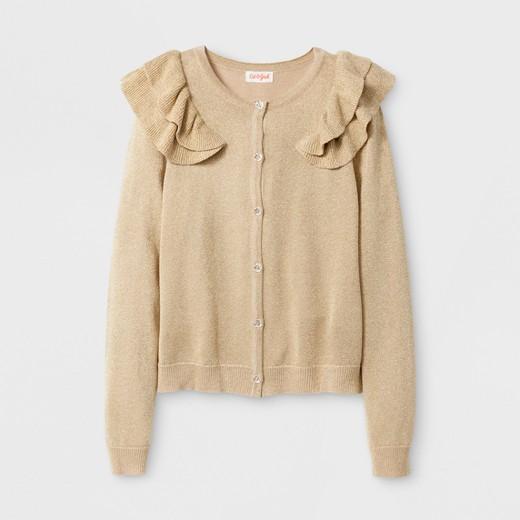 Girls' Long Sleeve Sweater Shrug - Cat & Jack™ Gold XL : Target