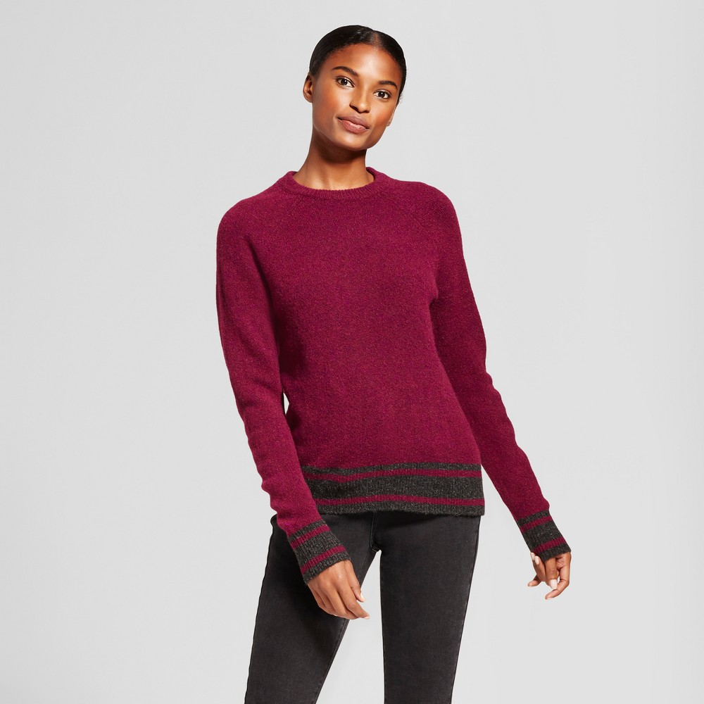 Womens Sporty Tipped Any Day Pullover - A New Day Magenta (Pink) M