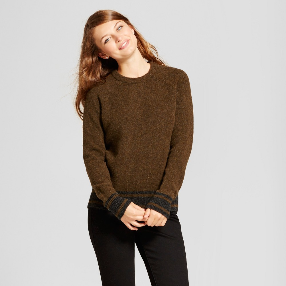 Womens Sporty Tipped Any Day Pullover - A New Day Green S