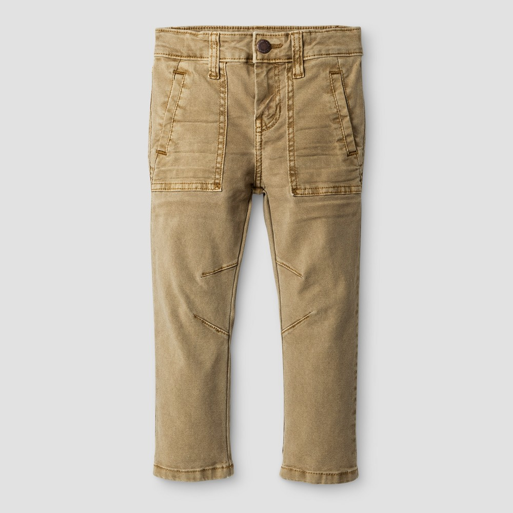 Toddler Boys Jeans Genuine Kids from OshKosh - Wheat 5T, Beige