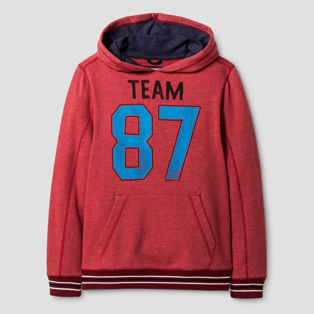 Boys Long Sleeve Hoodie Sweatshirt - Cat & Jack Wowzer Red L