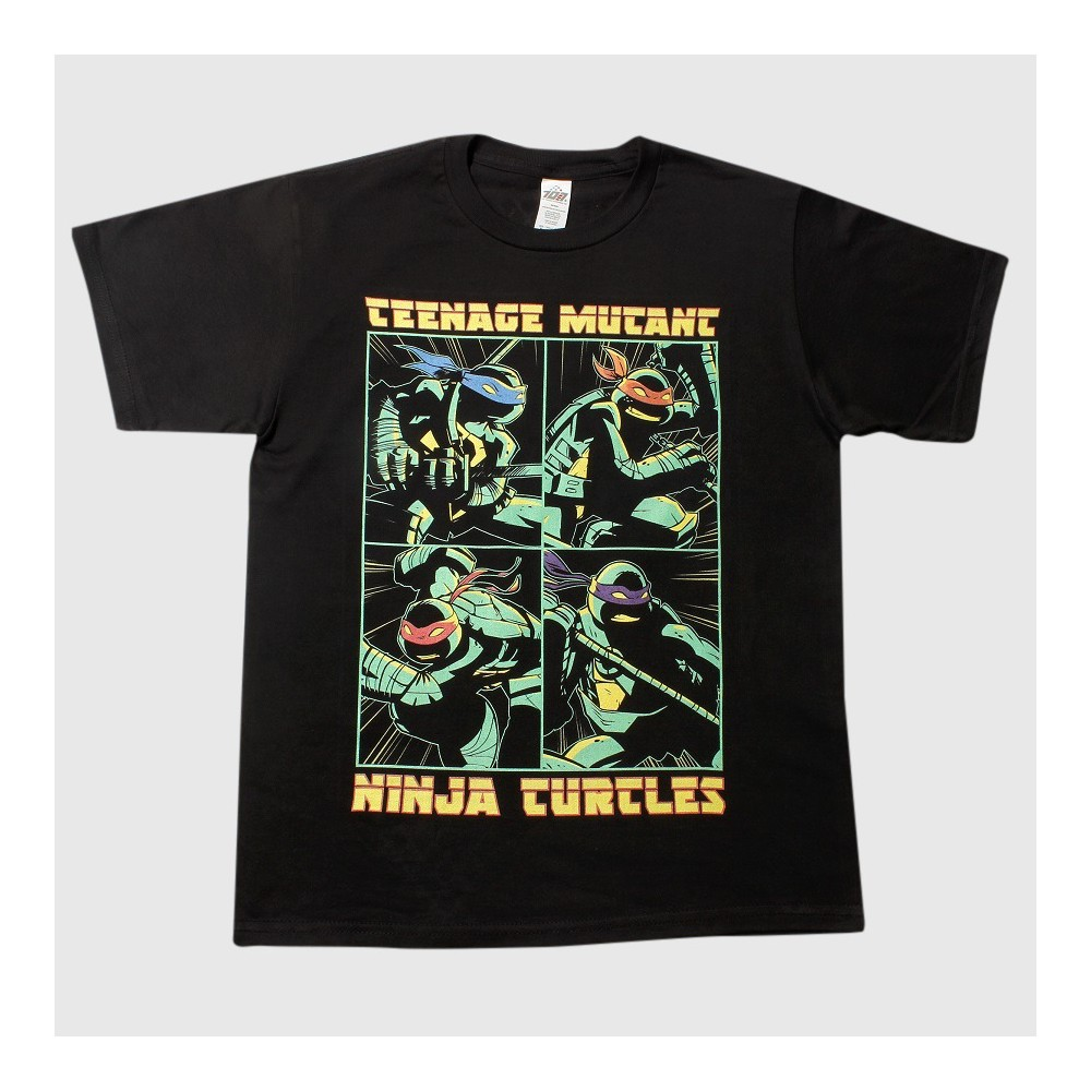 Teenage Mutant Ninja Turtles Boys T-Shirt - Black XS