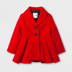 Toddler Girls' Skirted Dress Coat - Cat & Jack™ Red