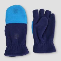 Boys' Fleece Convertible Gloves - Cat & Jack™ Navy/Blue