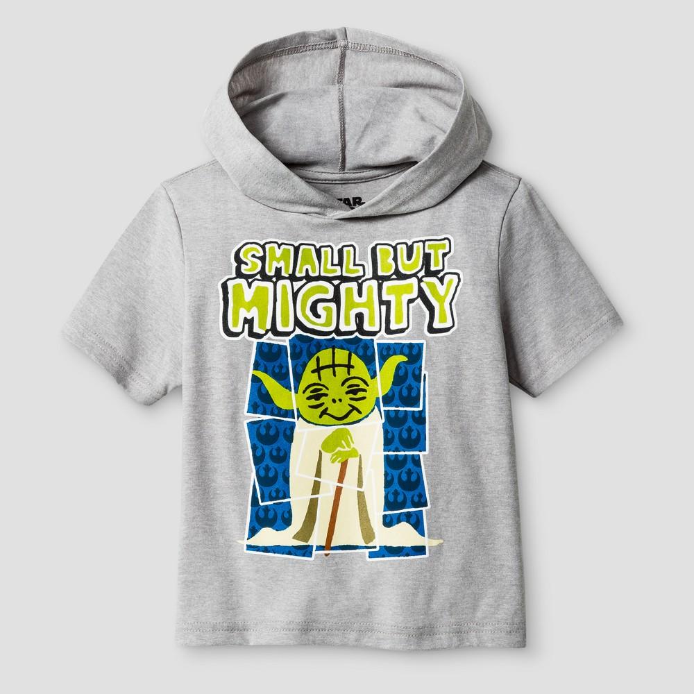 Toddler Boys Star Wars Mighty Yoda T-Shirt - Heather Gray 5T
