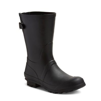 Women's Samantha Mid Calf Rain Boots - Merona™ Black 10