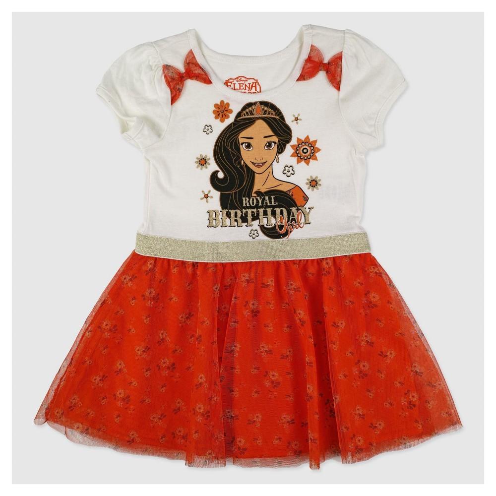 A Line Dresses Red Disney Princess Elena of Avalor 4T, Toddler Girls
