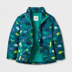 Toddler Boys' Packable Puffer Jacket - Cat & Jack™ Dinosaur