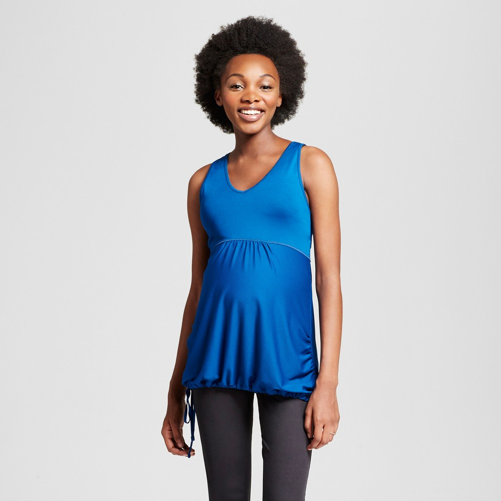 Maternity Fit & Flare Tank Top - C9 Champion Teal (Blue) S, Womens