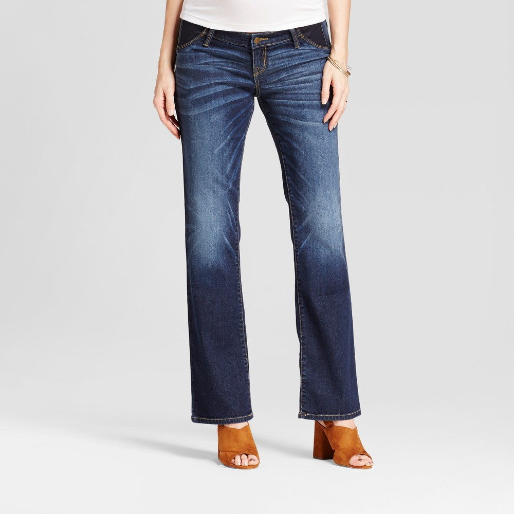 Maternity Inset Panel Bootcut Jeans - Isabel Maternity by Ingrid & Isabel Darker Wash 6, Womens, Blue