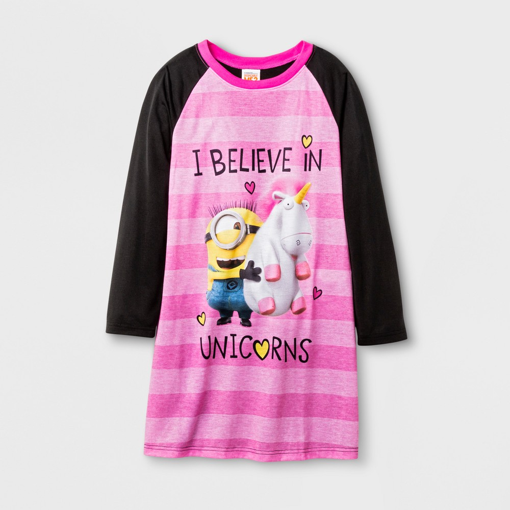 Minions Girls Nightgown - Black S