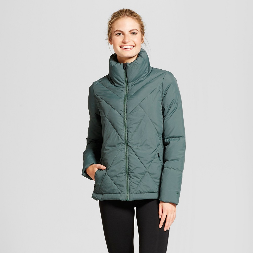 Womens Lightweight Puffer Jacket - C9 Champion Green M