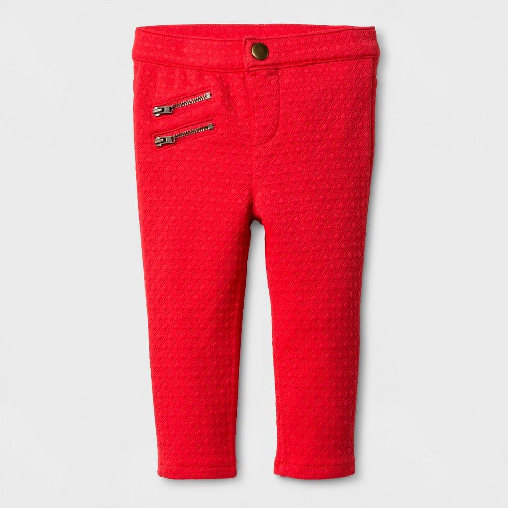 Toddler Girls Knit Tregging Fashion Pants - Genuine Kids from OshKosh Rocker Red 18M, Size: 18 M, Pink