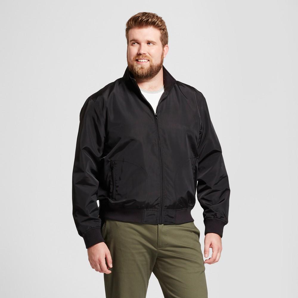 Mens Big & Tall Standard Fit Harrington Jacket - Goodfellow & Co Black 2XBT