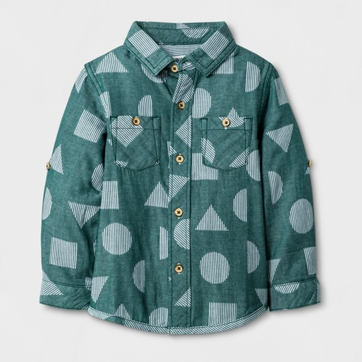 Toddler Boys' Long Sleeve Button Down Shirt Genuine Kids™ from ...